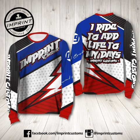 Imprint Customs - Lightning Riding Jersey