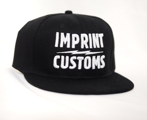 Imprint Customs - Snapback cap with 3D Embroidered White logo