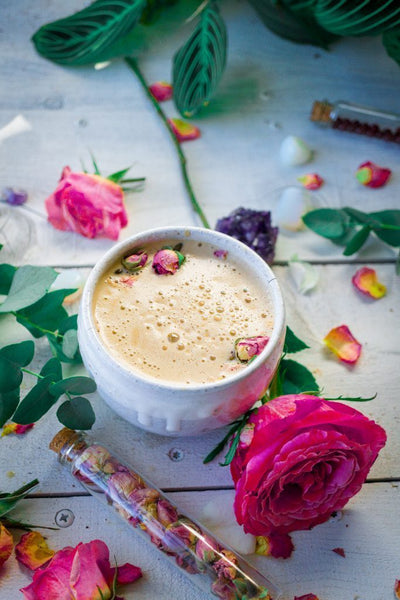 Rose Cacao Herbal Coffee Latte