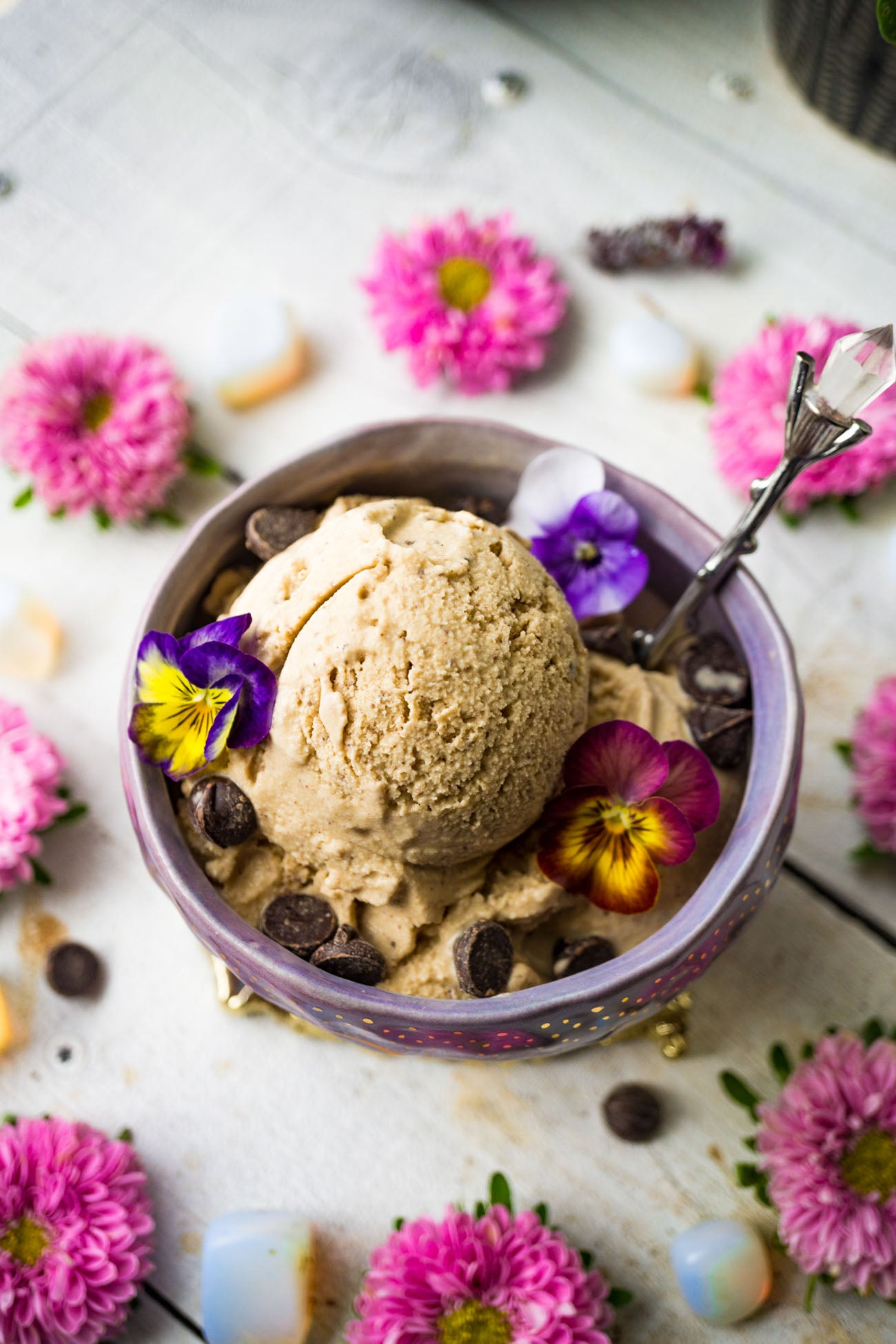 Vegan Dairy Free Chocolate Coffee Ice Cream