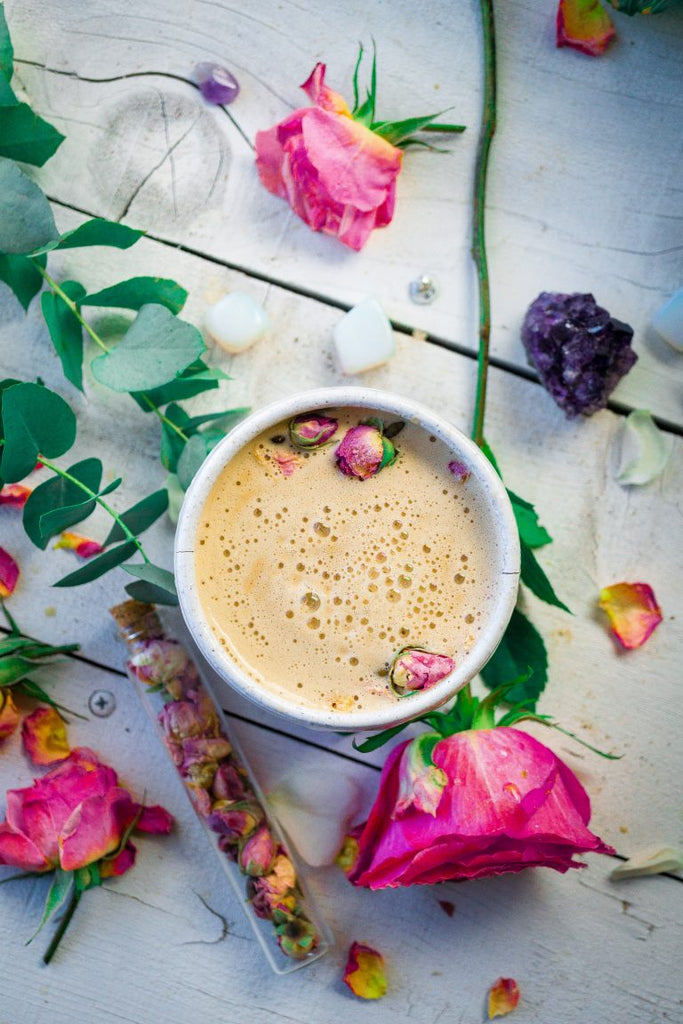 Rose Infused Mushroom Cacao Latte