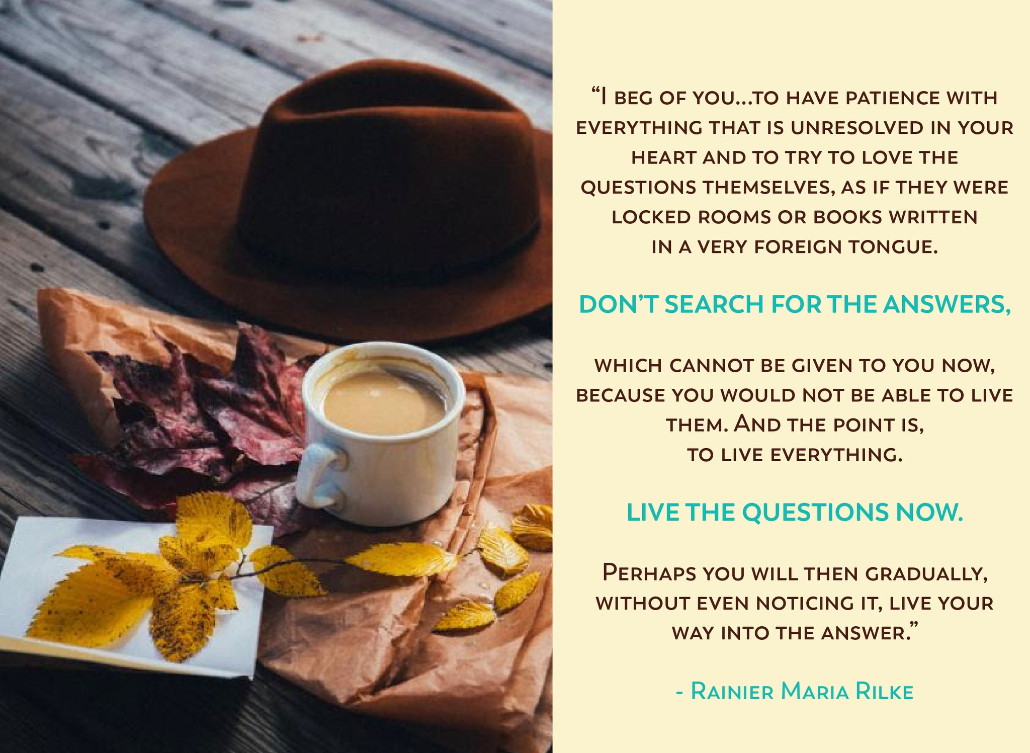 Fall Equinox Rainier Maria Rilke Quote