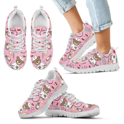 Pink Nurse Sneakers (Nursing Tennis Shoes) - Kids' Size