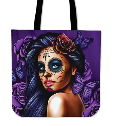 'Day of the Dead' Calavera Girl Tote Bag