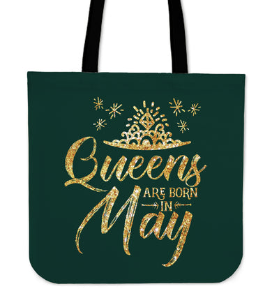 'Queens are Born in May' Tote Bag. Click this image for more details!