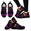 Day of the Dead Calavera Girl Sneakers in Purple
