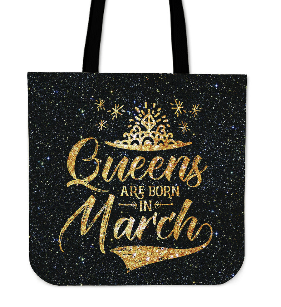 'Queens Are Born in March' Tote Bag. Click this image for more details!