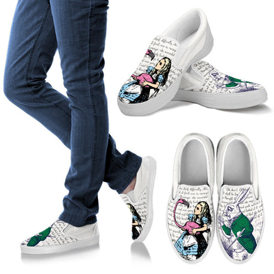 Alice in Wonderland Bookish Shoes - Classic Style - John Tenniel Illustration Shoes