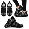 Day of the Dead Calavera Girl Sneakers in Monochrome Black and White