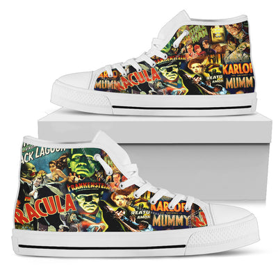 Universal Monsters High-Top Canvas Shoes for Men