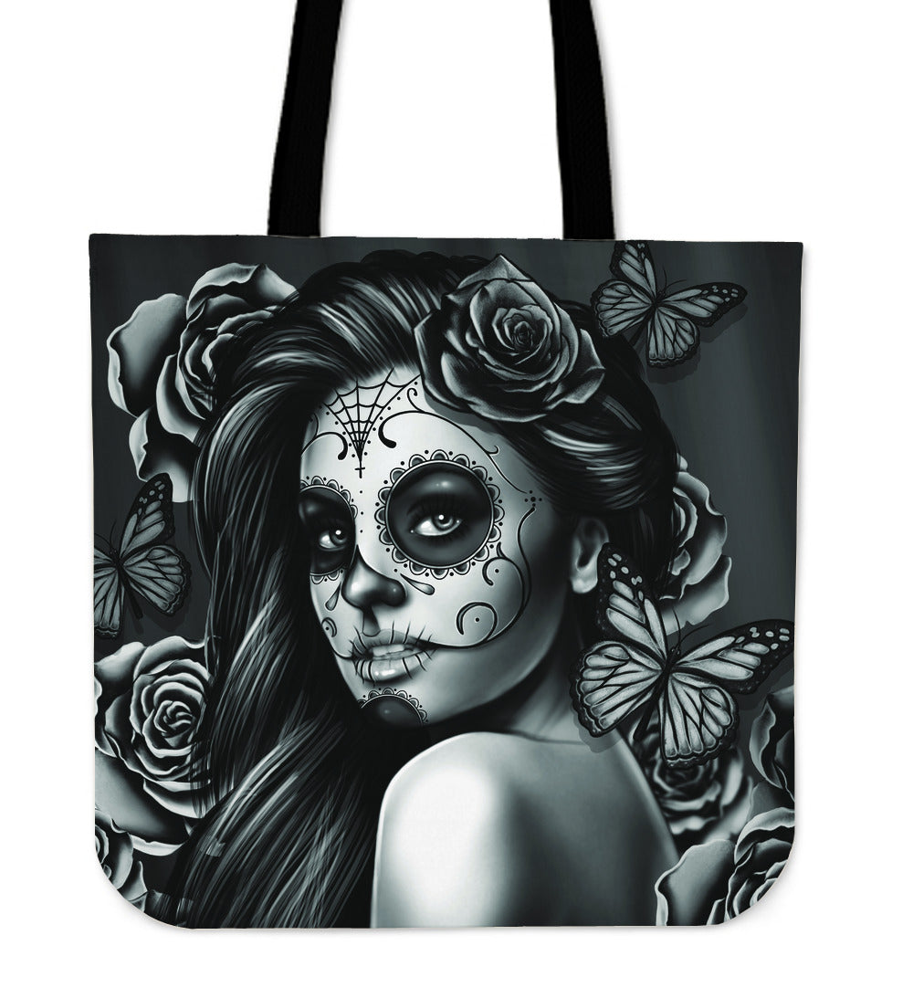 Day Of The Dead Calavera Girl Tote Bags 2017 Version Lovetrendify