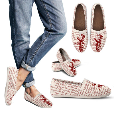 Alice in Wonderland Mad Hatter Casual Bookish Shoes for Women
