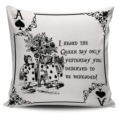 Alice in Wonderland Card Soldiers Throw Pillow Cushion