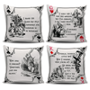 Alice in Wonderland Playing Card Suits Cushion Covers (Literary Style)