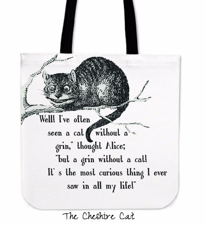 Alice in Wonderland Cheshire Cat Tote Bag