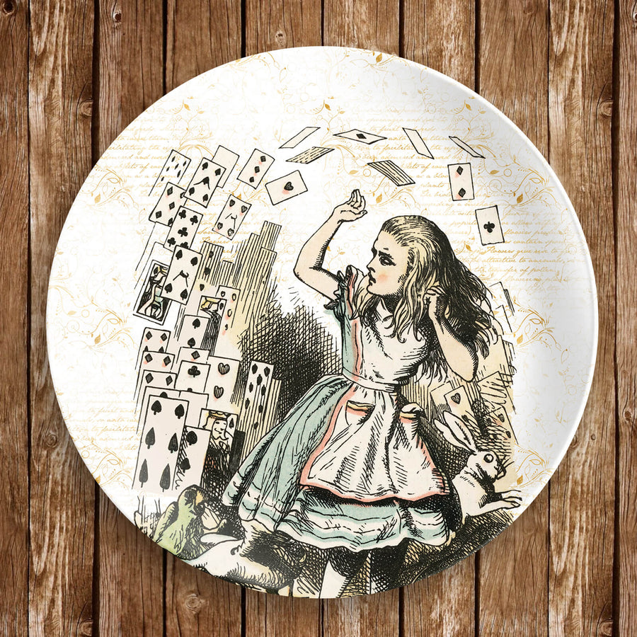 Alice's Adventures in Wonderland Dinnerware - Flying Cards (Plate)