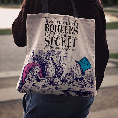 Alice in Wonderland Cotton Tote Bag