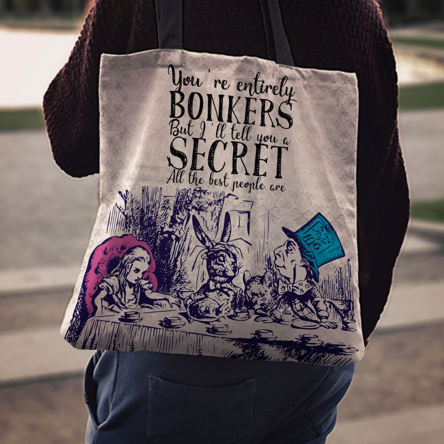 Alice in Wonderland Tote Bags