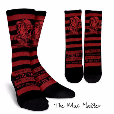 Alice in Wonderland Mad Hatter Socks (Classic-Style Bookish Socks for Your Literary Feet)