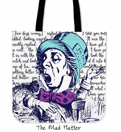 Alice in Wonderland Mad Hatter Tote Bag