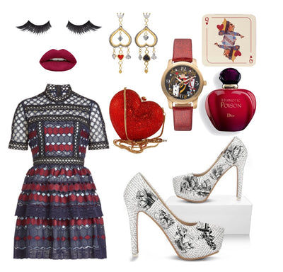 Alice in Wonderland Queen of Hearts Inspired Outfit