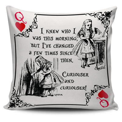Alice in Wonderland Throw Pillow Cushion