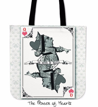 Alice in Wonderland Queen of Hearts Tote Bag