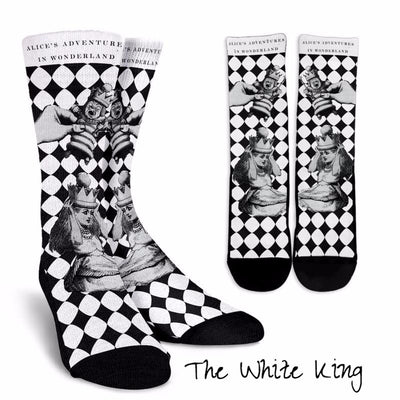 Alice in Wonderland White King Socks (Classic-Style Bookish Socks for Your Literary Feet)