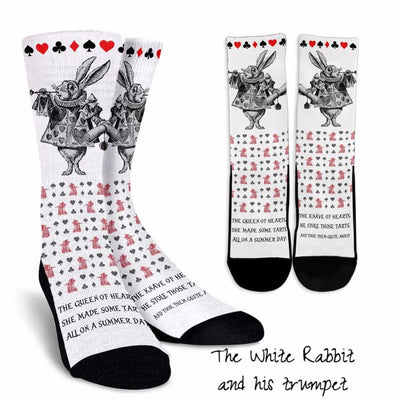 Alice in Wonderland White Rabbit Socks (Classic-Style Bookish Socks for Your Literary Feet)