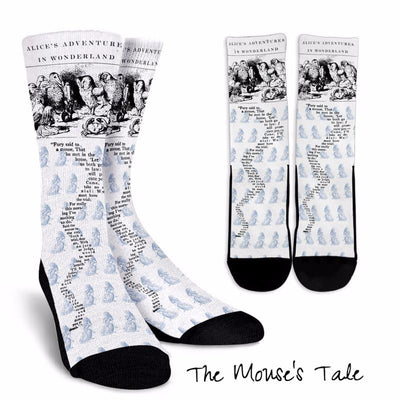 Alice in Wonderland The Mouse's Tale Socks (Classic-Style Bookish Socks for Your Literary Feet)