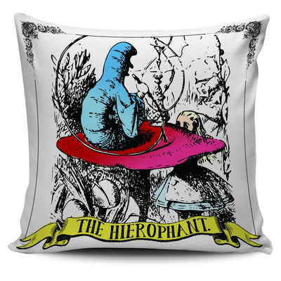 Alice in Wonderland Caterpillar Hierophant Tarot Pillow Cushion Cover