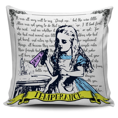 Alice in Wonderland 'Drink Me' Bottle Temperance Tarot Pillow Cushion Cover