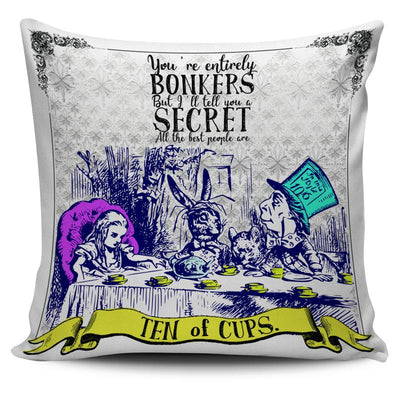 Alice in Wonderland Tea Party Ten of Cups Tarot Pillow Cushion Cover