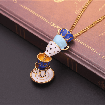 Alice in Wonderland Teacup Necklace