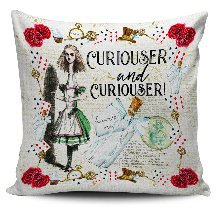 Alice's Adventures in Wonderland Throw Pillow Cushion Cover