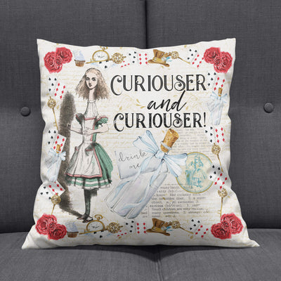 Alice in Wonderland Cushion Cover (Decorative Throw Pillow). Click this image for more details!