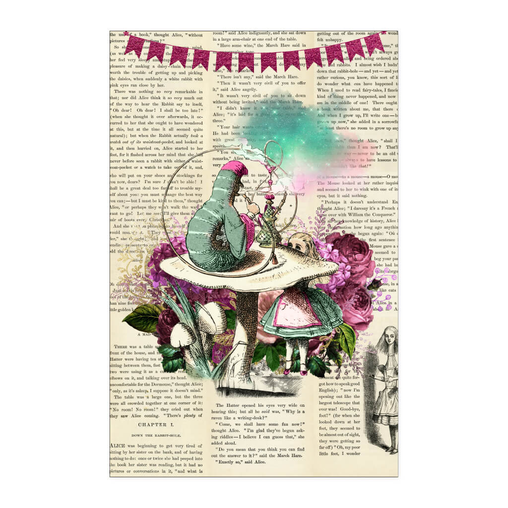 Alice In Wonderland Book Cover Ideas ~ Alices adventures in wonderland throw pillow cushion cover