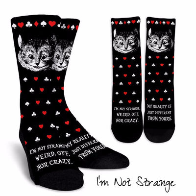 Alice in Wonderland Cheshire Cat Socks (Classic-Style Bookish Socks for Your Literary Feet)