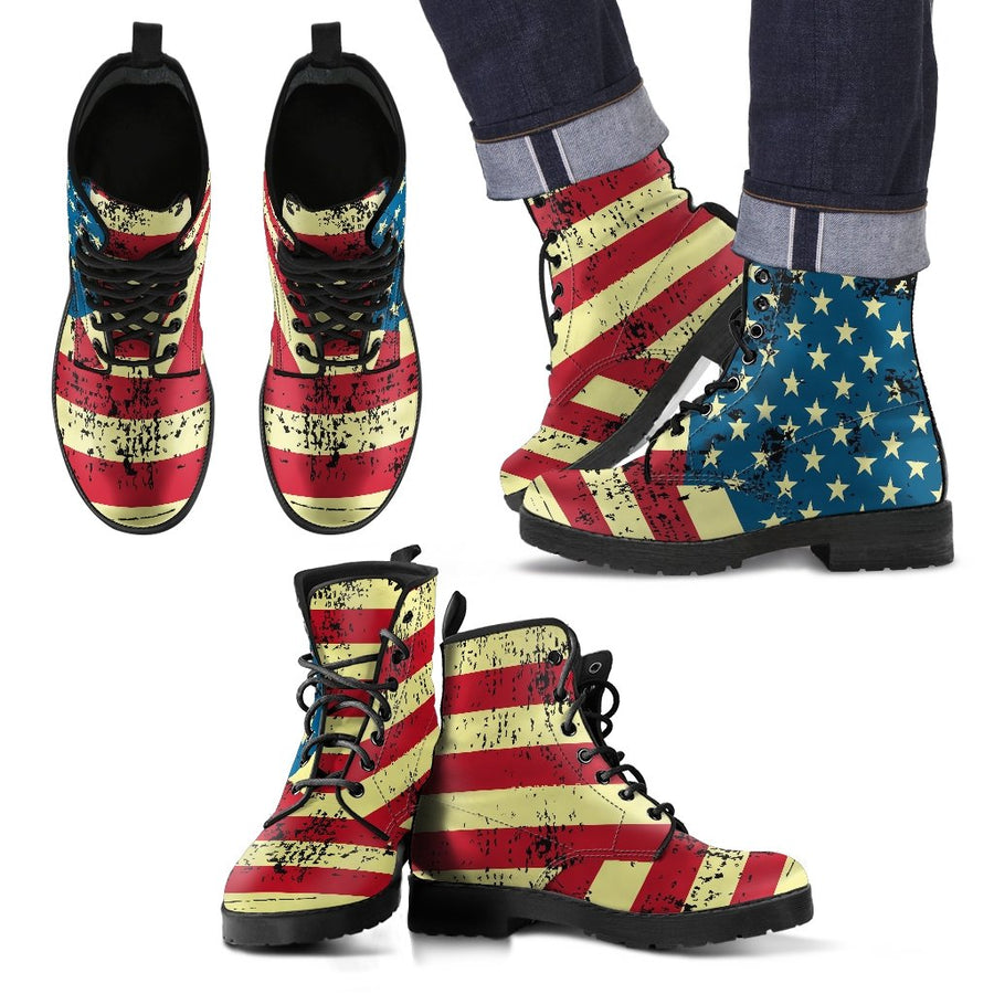 American Flag Boots for Men (Rustic) – Patriotic Boots