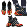 Patriotic Rustic American Flag Eco-Leather Boots for Men