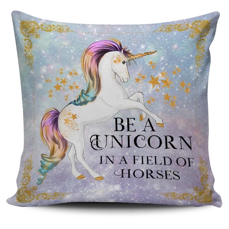 Unicorn Throw Pillow Cushion Cover With Unicorn Quotes