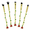 Beauty and the Beast Enchanted Rose Eyeshadow Makeup Brushes in Gold