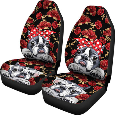 Boston Terrier Retro Pin-Up Style Car Seat Covers (Set of Two). Free worldwide shipping. Click this image for more details!