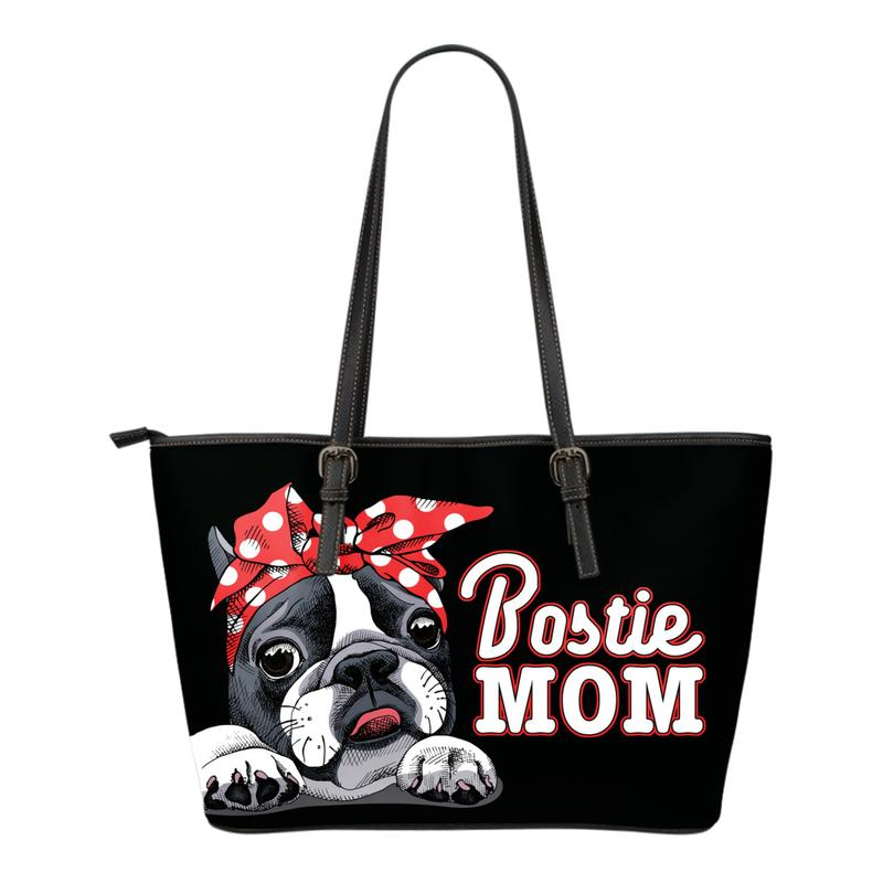Bostie Mom Eco-Leather Tote Bag for Boston Terrier Lovers. Click this image for more details!