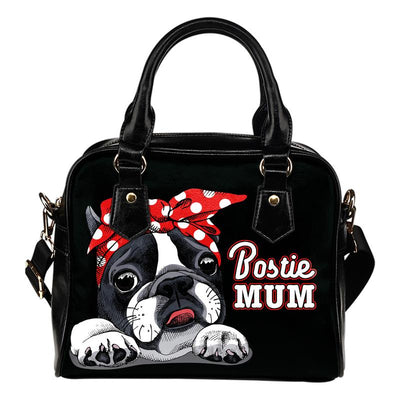 Bostie Mum Eco-Leather Shoulder Handbag for Boston Terrier lovers. Click this image for more details!