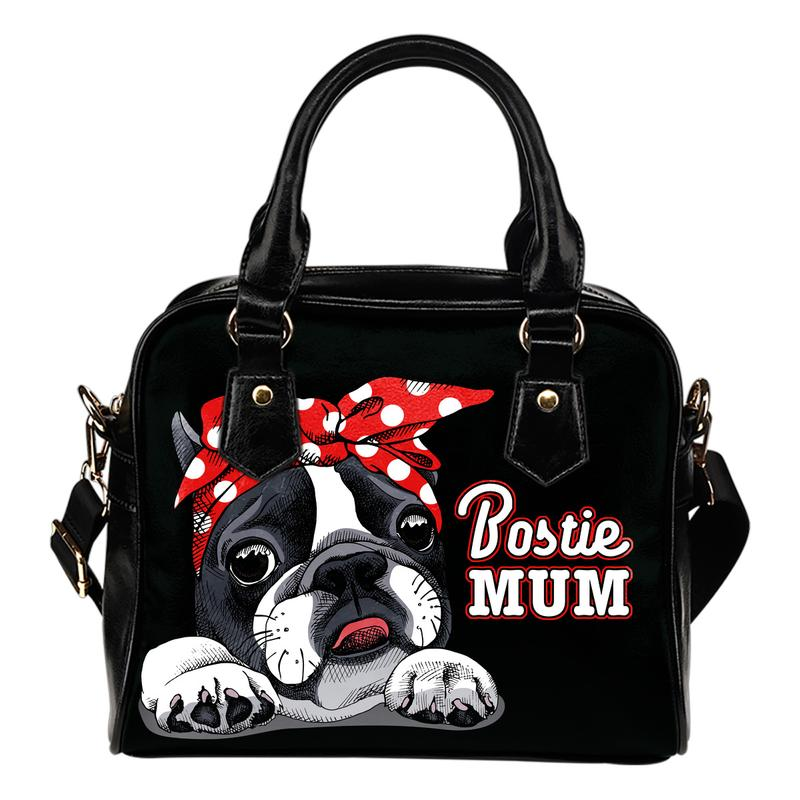 Bostie Mom Eco-Leather Shoulder Handbag for Boston Terrier lovers. Click this image for more details!