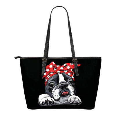 Boston Terrier Eco-Leather Tote Bag. Click this image for more details!