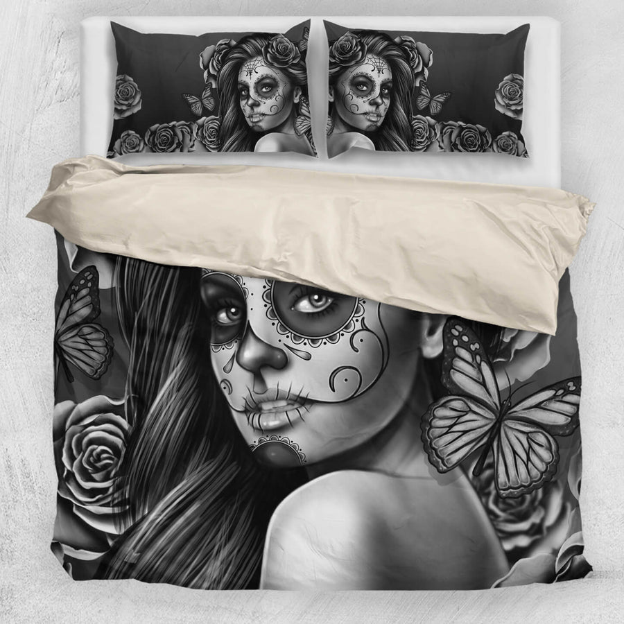 'Day of the Dead' Calavera Girl Bedding Set