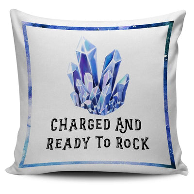 "Chalcanthite ""Charged and Ready to Rock"" Throw Pillow Cushion Cover"