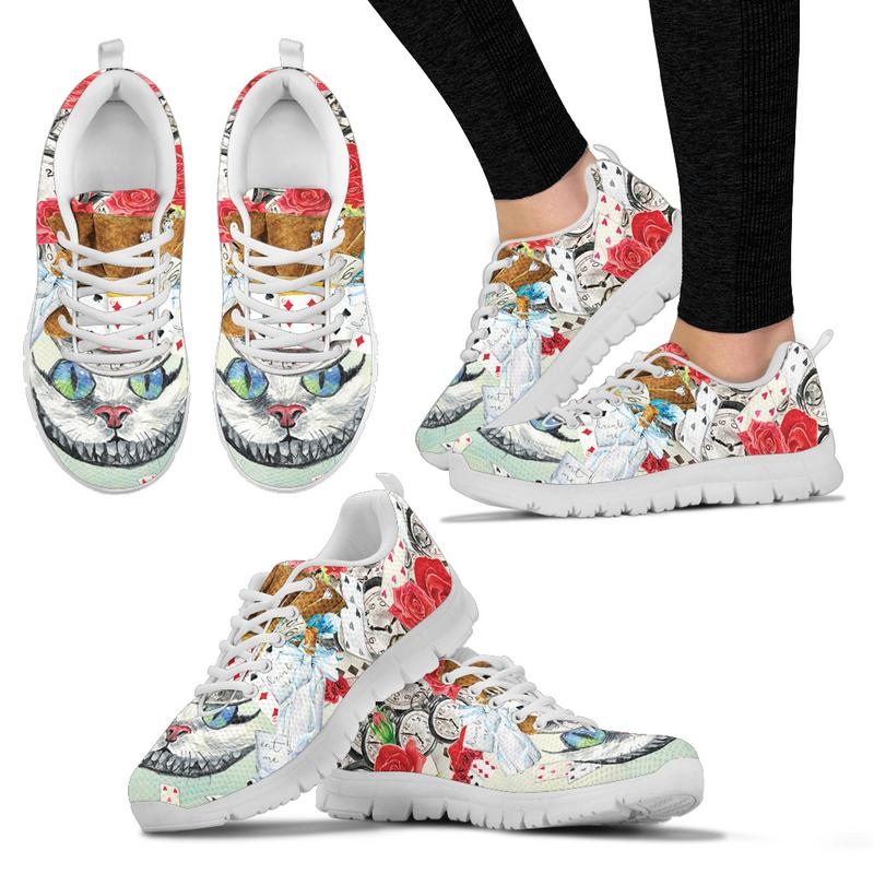 Alice in Wonderland Cheshire Cat Sneakers for Women